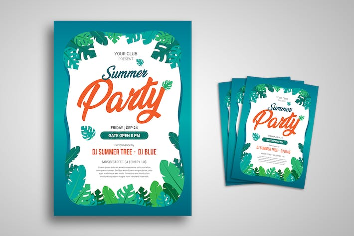 Thumbnail for Summer Party Festival Promo Flyer