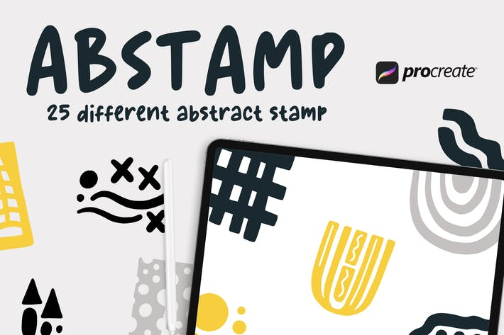 Thumbnail for Abstamp - 25 Abstract Stamp Brush