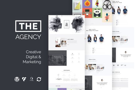 The Agency - Creative One Page Agency WP Theme