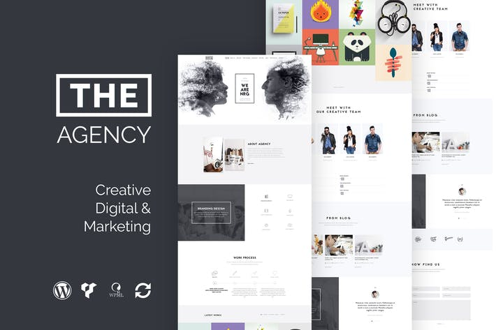 Die Agentur - Creative One Page Agency WP Thema