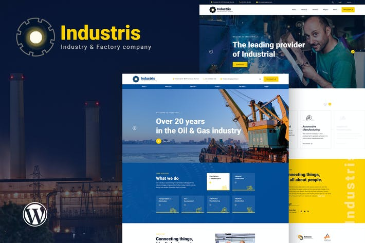 Thumbnail for Industris - Factory & Business WordPress Thema