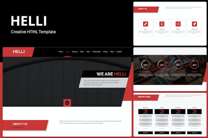 Thumbnail for Helli - Creative HTML Template