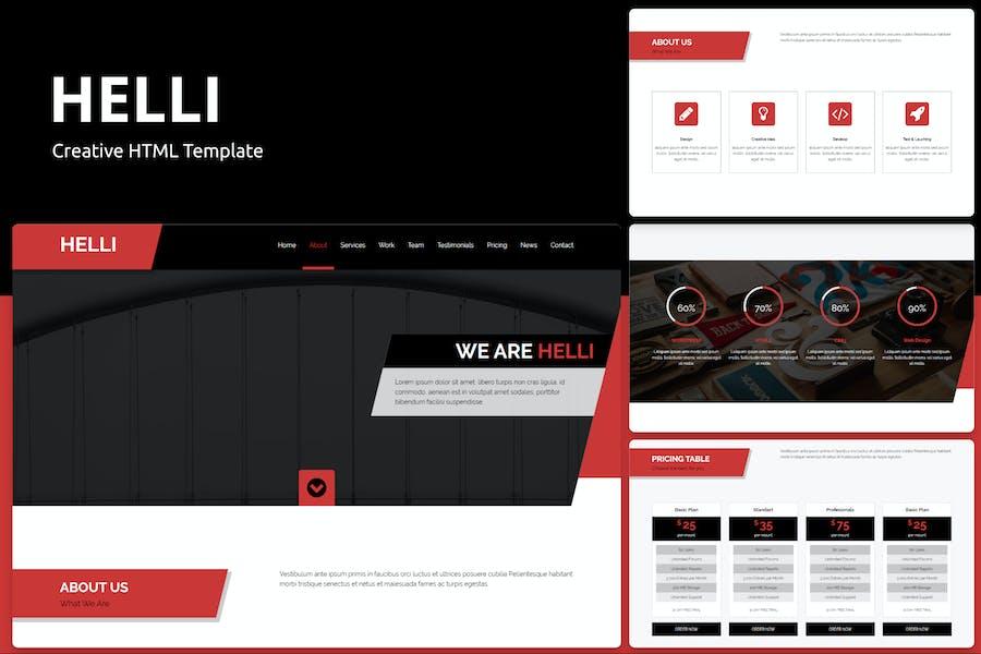 Helli - Creative HTML Template