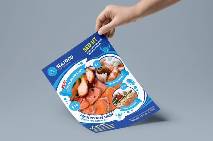 Thumbnail for Seafood Restaurant - Flyer Template