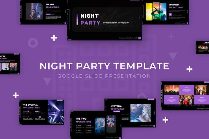 Ночная вечеринка - Шаблон слайда Google