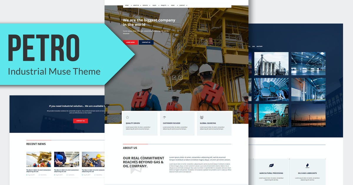 Download Petro - Industrial Muse Template RS by Rometheme