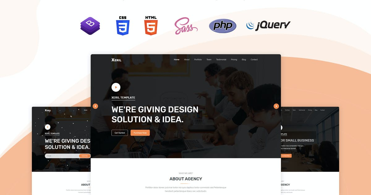 Download Xeril - One Page HTML5 Termplate by themesdesign