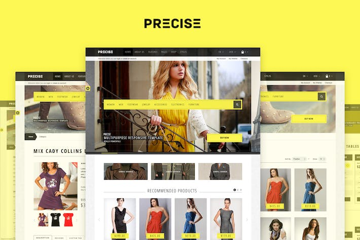 Cover Image For Precise — Multi-purpose Responsive Template