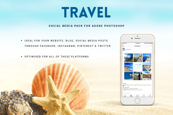 Thumbnail for Travel Social Media Pack