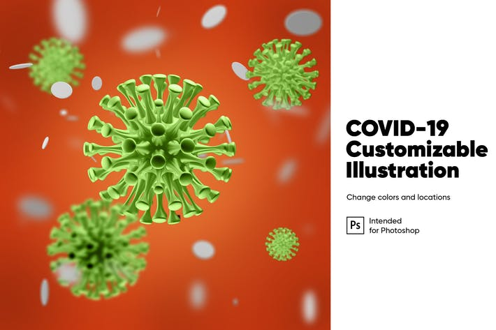 Thumbnail for COVID-19 Customizable Illustration