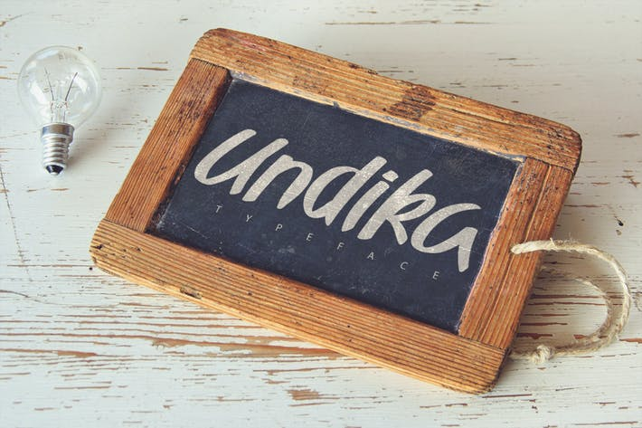 Thumbnail for Undika Typeface