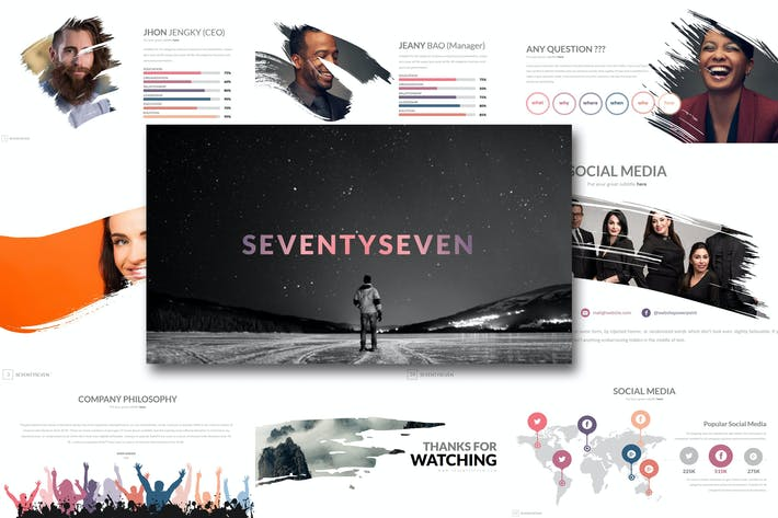 Thumbnail for Seventy 8 - Powerpoint Template
