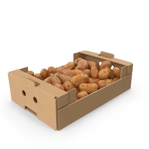 Thumbnail for Cardboard Box With Sweet Potato Full