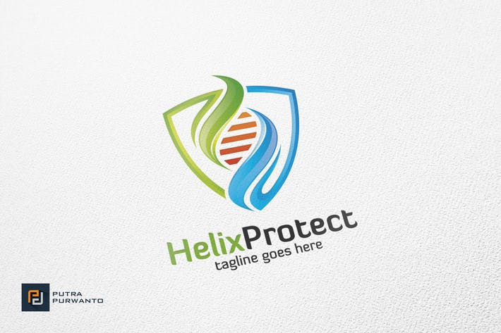Thumbnail for Helix Protect / DNA - Logo Template