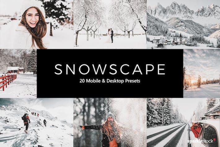 Thumbnail for 20 предустановок и LUT Snowscape Lightroom