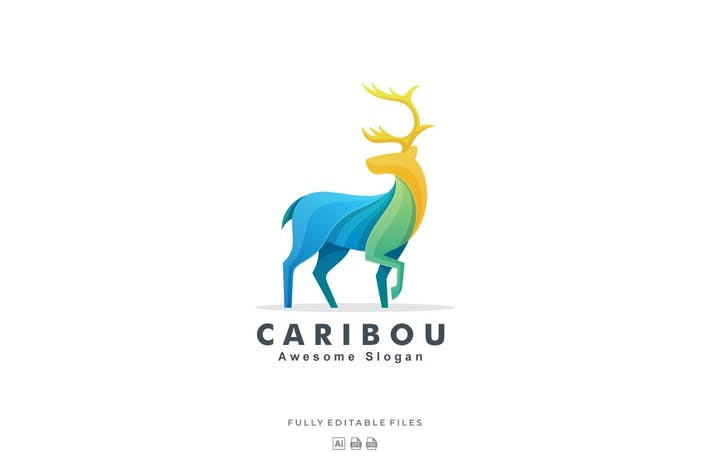 Thumbnail for Caribou Colorful Logo