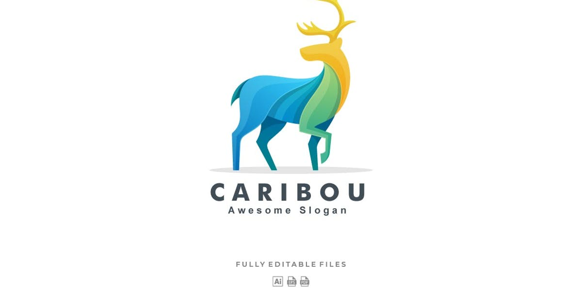 Download Caribou Colorful Logo by ivan_artnivora