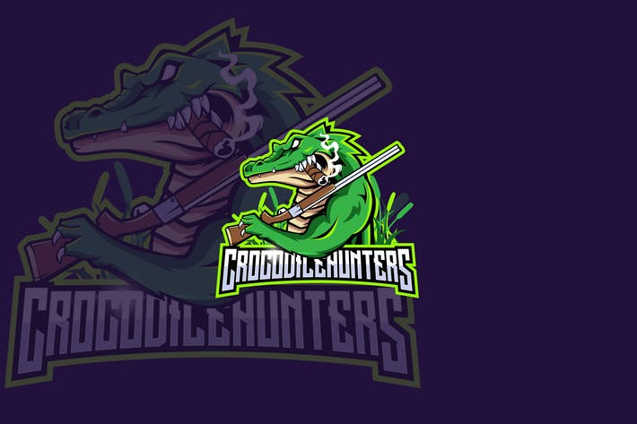 Thumbnail for Crocodile Hunters eSports Gaming Logo