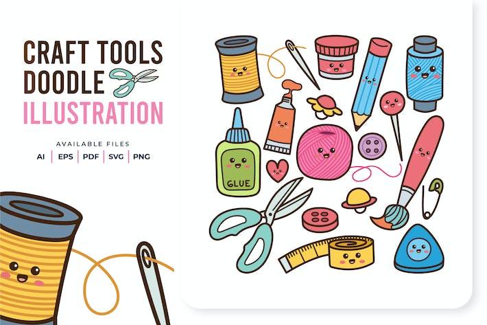 Handwerkswerkzeuge Doodle