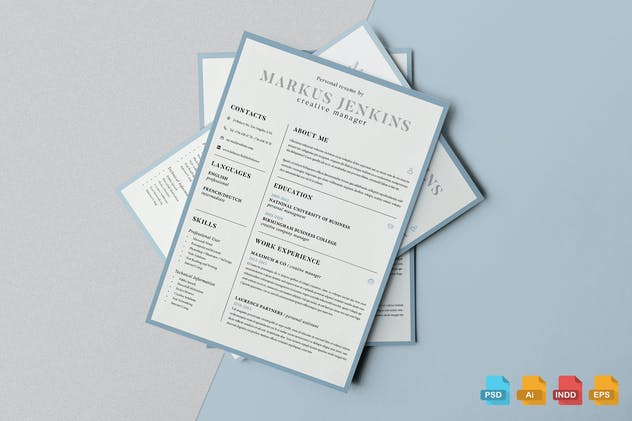 Clean Resume Template Vol.4