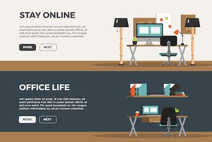 Creative Work Space Banner Set