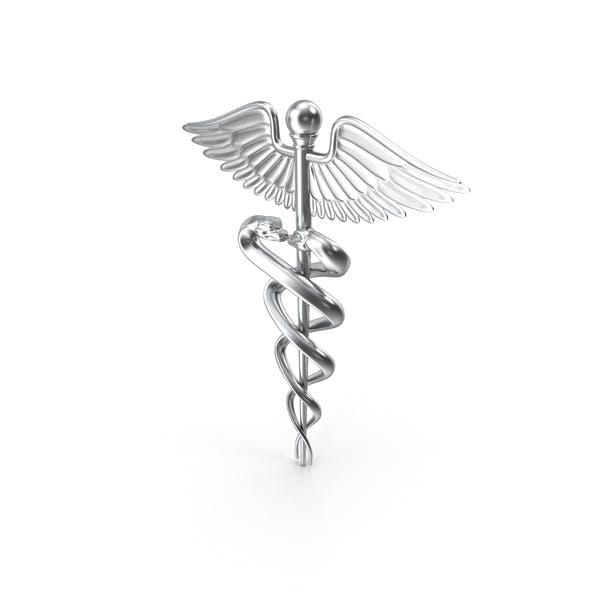 Thumbnail for Silver Caduceus Symbol