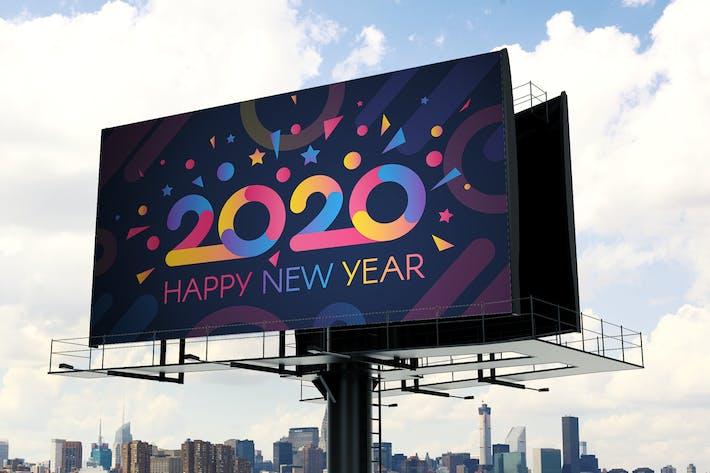 Thumbnail for Modern 2020 Greeting Card