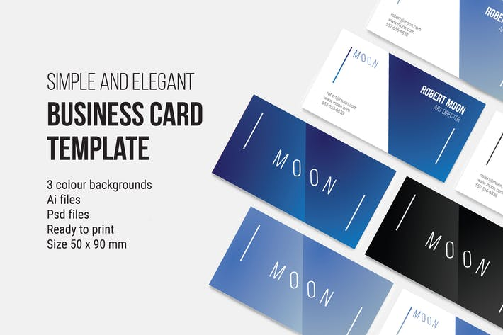 Thumbnail for MOON Business Card Template