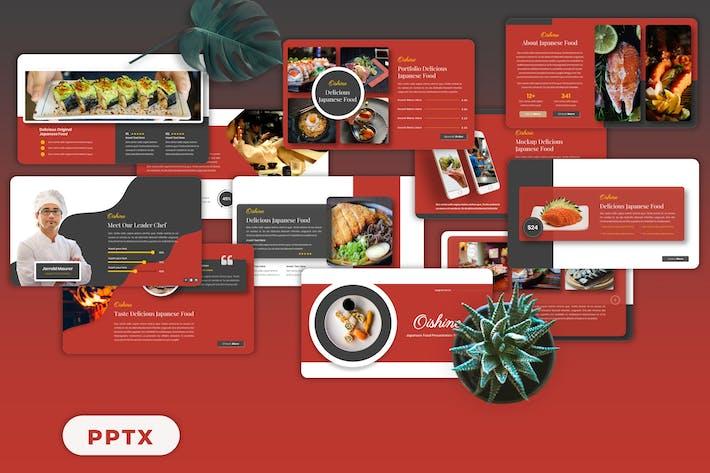 Oishine - Japanese Food Googleslide Templates