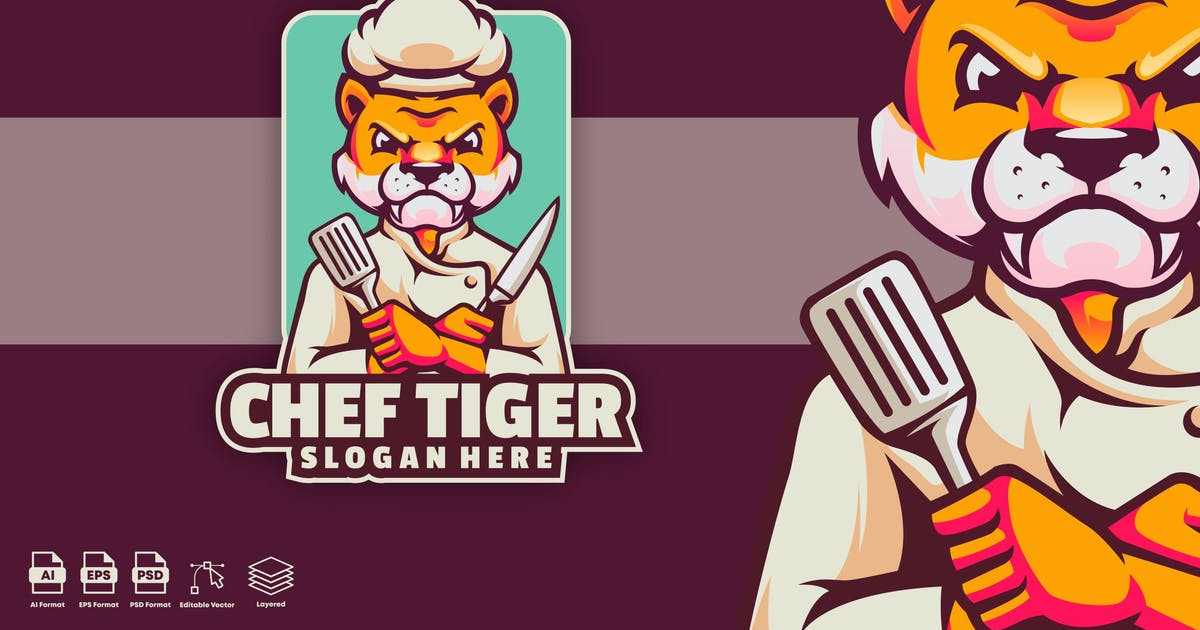 Download chef tiger logo template by Ary_Ngeblur