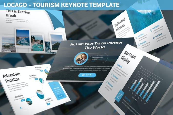 Thumbnail for Locago - Tourism Keynote Template