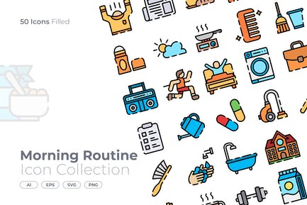 Morning Routine Filled Icon