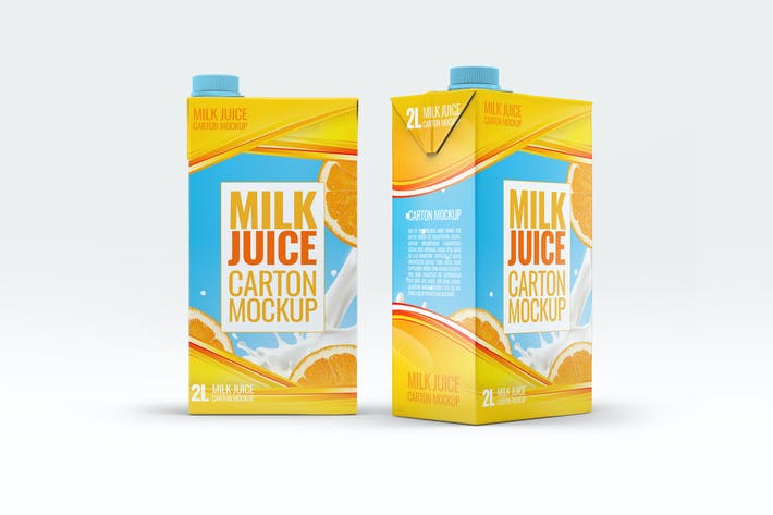 Thumbnail for Milk or Juice Carton Mock-Up v.2