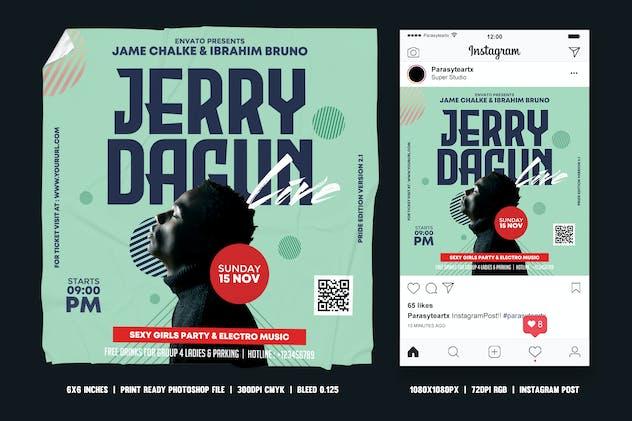 Guest DJ Square Flyer & Instagram Post