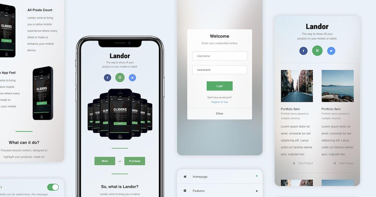 Download Landor   Dropdown Menu Based Mobile Template by Enabled