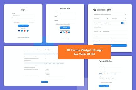 10 Forms Widget Design for Web-UI Kit