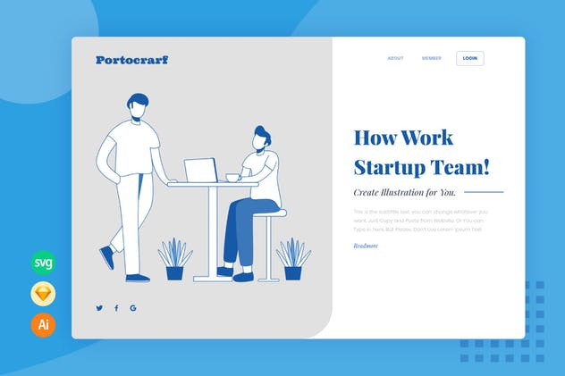 Discussion - Website Header - Illustration