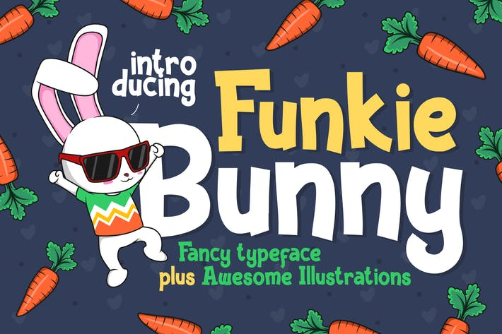Thumbnail for Funkie Bunny - Fancy Font (+EXTRA)