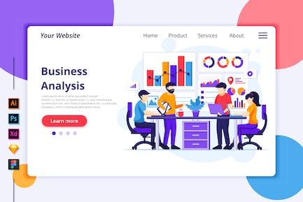 Illustration d'analyse d'entreprise - Agnytemp