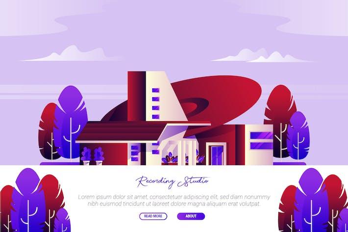 Thumbnail for Recording Studio - Vector Landscape & Building