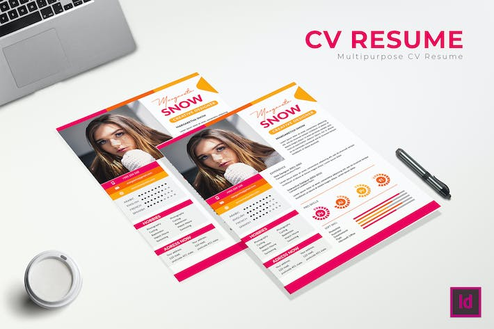 Thumbnail for Fanta CV Resume Template