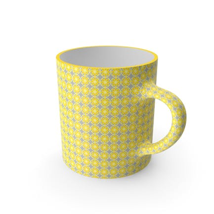 Printed Yellow Flower Cup