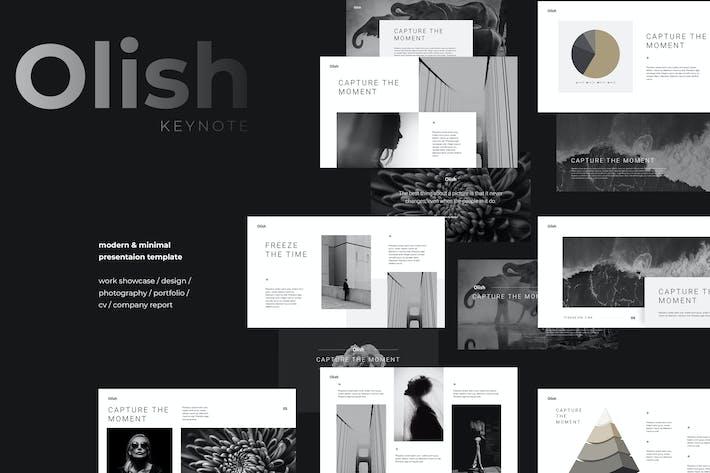 Thumbnail for OLISH - Minimal & Elegant Keynote Template