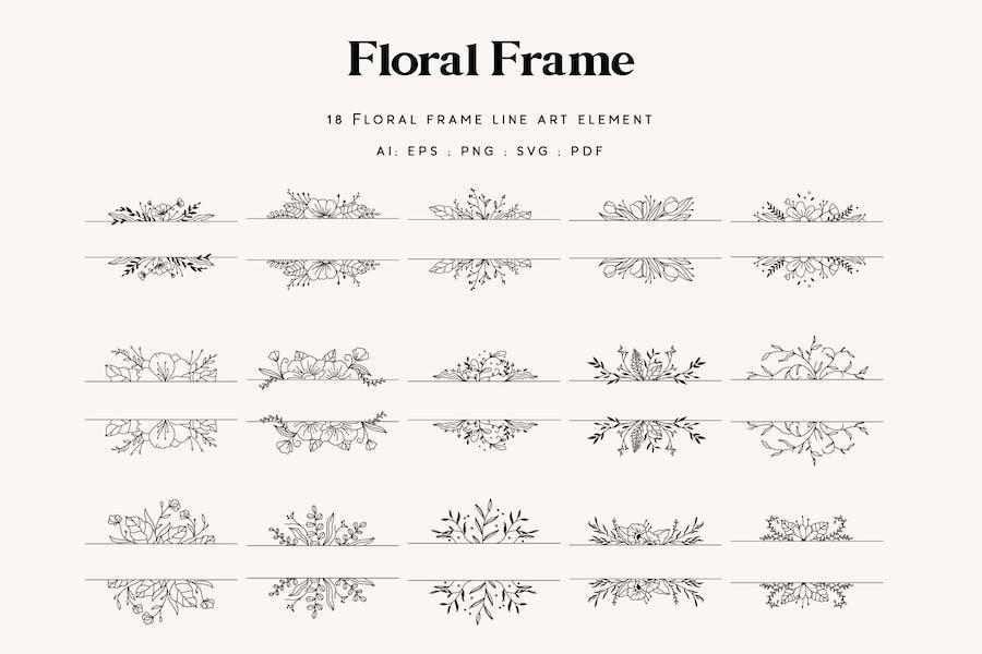 18 Floral Frame Element