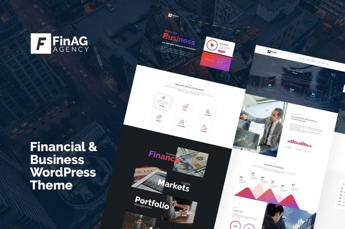 Thumbnail for Finag - Creative & Finance Agency WordPress Theme