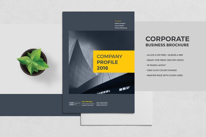 Thumbnail for Corporate Business Brochure 16 Pages A4