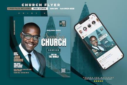 Sunday Church Service Flyer