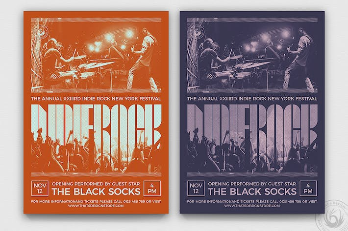Thumbnail for Indie Rock Flyer Template V9