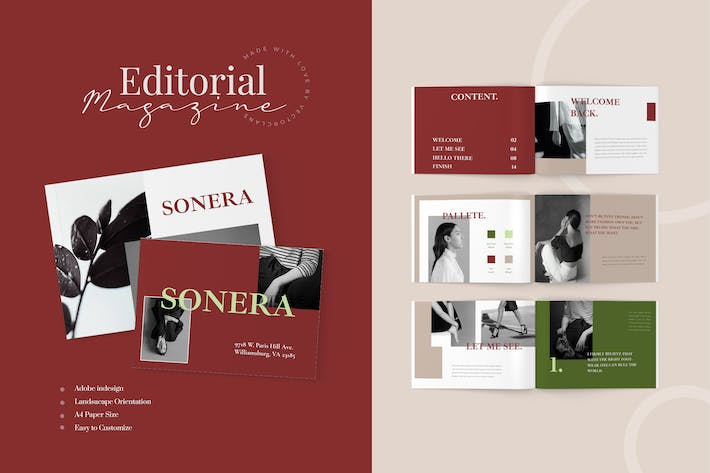 Thumbnail for Editorial Magazine Template