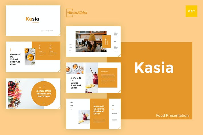 Thumbnail for Kasia - Food Google Slides Presentation Template